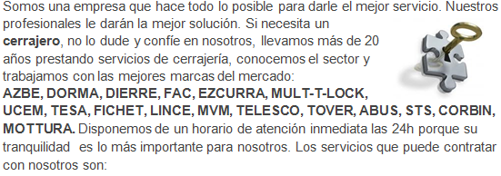 Cerrajeros Monte Horquera cerrajería 24 horas